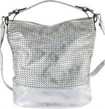 Borsa a tracolla metallizzata (Argento) - bpc bonprix collection
