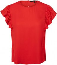 VERO MODA Frill Sleeveless Top Women Red