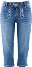 Pinocchietto di jeans con ricamo tradizionale (Blu) - bpc bonprix collection