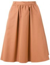 Société Anonyme - high waist skirt - women - Cotton - 42, 44, 46 - NUDE & NEUTRALS