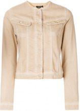 Twin-Set - embroidery embellished denim jacket - women - Cotton - 38, 42, 44, 46, 48, 50 - NUDE & NEUTRALS