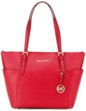 Michael Michael Kors - Borsa tote grande 'Jet Set' - women - Calf Leather/Leather - One Size - RED