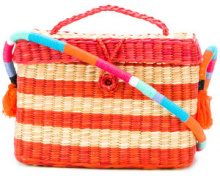 Nannacay - stripe panel shoulder bag - women - Straw - OS - YELLOW & ORANGE