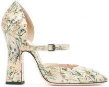 Bottega Veneta - Pumps con motivo a fiori - women - Leather - 37.5, 38, 41 - NUDE & NEUTRALS