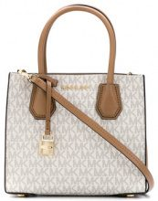Michael Michael Kors - Mercer MD messenger bag - women - Cotton/Polyester/PVC - OS - NUDE & NEUTRALS