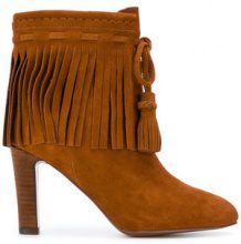 See By Chloé - Stivaletto con frange - women - Suede/Leather - 35, 36, 37, 38, 40 - BROWN