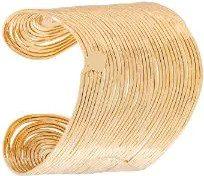 Gas Bijoux - Bracciale rigido 'Wave' - women - 24kt Gold Plate - OS - Metallizzato