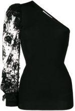 Givenchy - one-shoulder lace blouse - women - Polyamide/Spandex/Elastane/Viscose - S, M, XS - BLACK