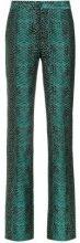 Tufi Duek - snakeskin print flared trousers - women - Acetate/Cotton - 36, 38, 42 - GREEN