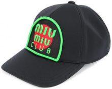 Miu Miu - Cappello da baseball con toppa - women - Neoprene - M - Nero