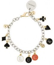 Diesel - Braccialetto 'Luck' con ciondolo - women - Iron - One Size - METALLIC