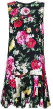 Dolce & Gabbana - Vestito corto con stampa floreale - women - Silk/Cotton/Spandex/Elastane/Viscose - 40, 42, 44, 46, 38, 36 - BLACK