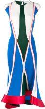 Esteban Cortazar - geometric ribbed dress - women - Viscose/Acetate/Polyamide/Spandex/Elastane - 36, 38 - BLUE