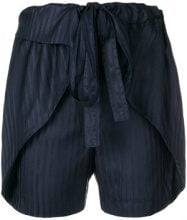 Stella McCartney - Shorts a righe - women - Silk - 36, 38, 42, 40 - BLUE