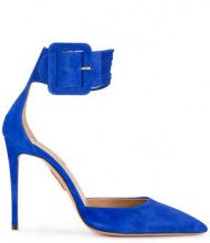 - Aquazzura - Pumps 'Casablanca 105' - women - Suede/Leather - 39.5, 40.5, 41 - Blu