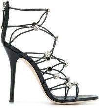 Giuseppe Zanotti Design - Sandali con fascette - women - Leather - 38.5, 39, 40, 36, 37, 38, 37.5 - Nero