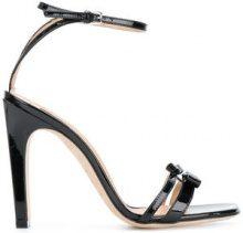 Sergio Rossi - Sandali con dettaglio fiocco - women - Patent Leather/Lamb Skin/Calf Leather - 34.5, 35, 35.5, 36, 40.5, 36.5, 37, 37.5, 38, 38.5, 3...