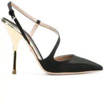 Giambattista Valli - strappy pumps - women - Leather/Satin Ribbon - 36.5, 37, 37.5, 38.5, 39, 39.5, 40, 40.5 - BLACK
