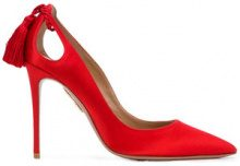 Aquazzura - Pumps 'Forever Marilyn' - women - Satin/Leather/Polyamide - 35, 36, 37, 37.5, 38, 39, 39.5, 40, 41 - RED