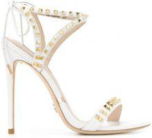 Gianni Renzi - studded open-toe sandals - women - Leather - 36, 36.5, 37, 37.5, 38, 38.5, 39.5, 40, 41 - WHITE