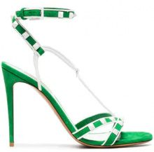 Valentino - Green Free Rockstud 105 Suede Sandals - women - Leather/Suede - 36, 40, 40.5 - GREEN