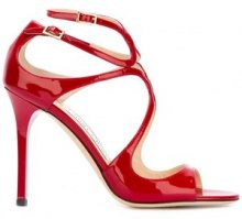 Jimmy Choo - Sandali 'Lance' - women - Leather/Patent Leather - 36, 37, 38, 39, 36.5, 37.5, 38.5, 39.5, 40, 41 - RED