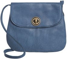 PIECES Leather Crossbody Bag Women Blue