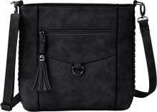 Borsa a tracolla con nappa (Nero) - bpc bonprix collection