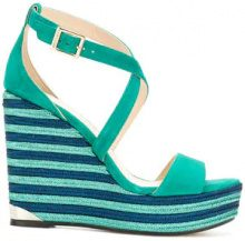 Jimmy Choo - Sandali 'Portia 120' - women - Leather/Suede - 36, 38.5, 39, 40, 38 - Verde