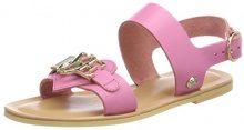 Love Moschino San.Lod./10 Vacchetta, Sandali con Cinturino alla Caviglia Donna, Rosa (Pink), 40 EU