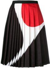 Neil Barrett - geometric print pleated skirt - women - Polyester - 38, 40, 42 - Nero