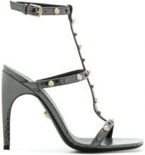 Versace - Sandali borchiati - women - Watersnake Skin/Leather - 35, 36, 39, 40 - Metallizzato