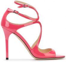 Jimmy Choo - Lang 100 sandals - women - Leather - 36.5, 37, 37.5, 38, 38.5, 39 - PINK & PURPLE