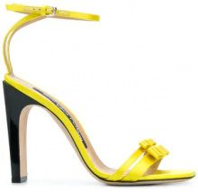 Sergio Rossi - Sandali con cinturino alla caviglia - women - Silk/Leather - 34.5, 35, 35.5, 36.5, 37.5, 38.5, 39, 40.5 - YELLOW & ORANGE