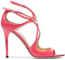 Jimmy Choo - Sandali 'Lang 100' - women - Leather/Patent Leather - 36, 36.5, 39, 40.5 - Rosa & viola
