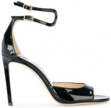 Jimmy Choo - Sandali 'Lane' - women - Leather/Patent Leather - 35, 36, 36.5, 37, 37.5, 38, 38.5, 39, 40, 41 - BLACK