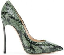 Casadei - Blade snakeskin pumps - women - Leather/Kid Leather/King Rat Snake - 35, 35.5, 37, 37.5, 39, 39.5, 40, 41 - GREEN