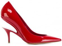 Maison Margiela - Pump con dettagli cut-out - women - Leather/Patent Leather - 36, 37, 39, 40, 38, 35.5, 36.5, 37.5 - RED