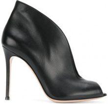 Gianvito Rossi - Stiletto con punta aperta - women - Nappa Leather/Leather - 35, 35.5, 36, 36.5, 41 - BLACK