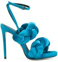 Marco De Vincenzo - Sandali con tacco a stiletto - women - Polyester/Goat Skin/Leather - 35, 36, 37, 38, 39, 40 - Blu