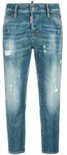 Dsquared2 - Cool Girl microstudded jeans - women - Cotton/Spandex/Elastane/Aluminium - 40 - BLUE
