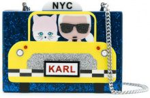 Karl Lagerfeld - Karl NYC Taxi clutch - women - Acrylic - One Size - BLUE