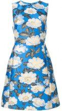 Dolce & Gabbana - floral print dress - women - Silk/Polyester/Spandex/Elastane - 48, 46, 40, 42 - BLUE