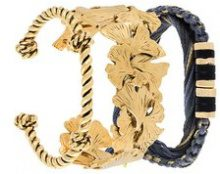 Aurelie Bidermann - Bracciale 'Takayama & Tangerine' - women - 18kt Gold Plated Brass - OS - BLUE