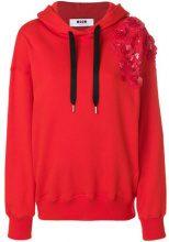 MSGM - Felpa con cappuccio - women - Cotton - XS - RED