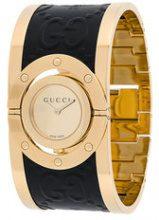 Gucci - Orologio con bracciale - women - Leather/Brass/stainless steel - OS - METALLIC