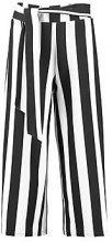 Danii Big Monochrome Stripe Belted Trouser