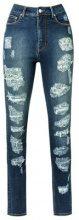 Amapô - distressed skinny jeans - women - Cotton/Elastodiene - 34, 36, 38, 40, 44, 46 - BLUE