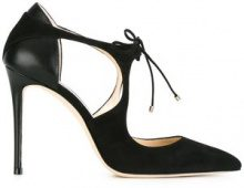 Jimmy Choo - Pumps 'Vanessa 100' - women - Goat Skin/Leather/Suede - 35, 36, 36.5, 37, 37.5, 38, 38.5, 39, 40, 41 - BLACK