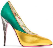 Gucci - Pumps a punta - women - Leather/Suede - 35, 35.5, 36, 37, 38, 38.5, 39, 40, 41 - GREEN
